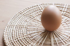 Eggs cooking for breakfast, a protein form yolk and albumen on a white background, or on a plain wooden table. Eggs cooking for breakfast, a protein form yolk Stock Images
