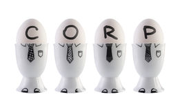 Eggs, corporation concept. Stock Photos