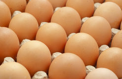 Eggs on crate Royalty Free Stock Image