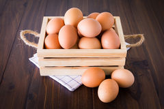 Eggs in crate Stock Images