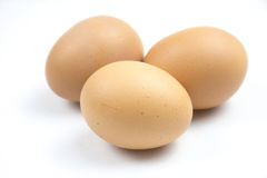 Eggs are in crates. Royalty Free Stock Photo