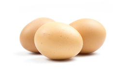 Eggs are in crates. Stock Images