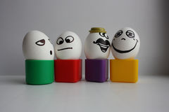 Eggs with a cute face. Photo Stock Images