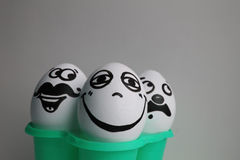 Eggs with a cute face Royalty Free Stock Photography