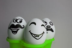 Eggs with a cute face. Photo Stock Image