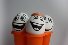 Eggs with a cute face Royalty Free Stock Image