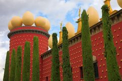 Eggs on the Dali's theatre Royalty Free Stock Photography
