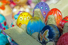 Eggs decorated ornamental for Easter stock images