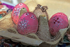 Eggs decorated ornamental for Easter 1 stock images