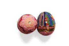 Eggs decorated with tiny beads Royalty Free Stock Images