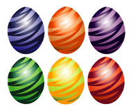 Eggs decorated with zigzag Royalty Free Stock Image