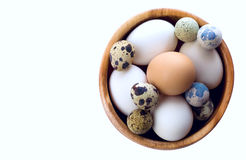 Eggs. Decoration easter food background Royalty Free Stock Photography