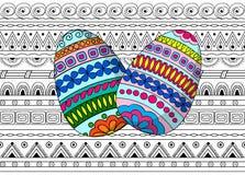 Eggs decoration on the seamless pattern vector illustration