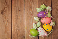 Eggs decorations for easter holiday celebration Royalty Free Stock Photography