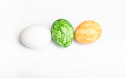 Eggs in different colors Royalty Free Stock Photos