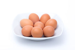 Eggs in a dish Royalty Free Stock Photo