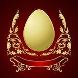 Eggs for Easter. A row of colored eggs for Easter Royalty Free Stock Image