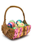 Eggs in Easter Basket Royalty Free Stock Photo