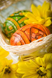 Eggs in Easter basket Stock Photography