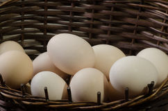 Eggs in easter basket Royalty Free Stock Images