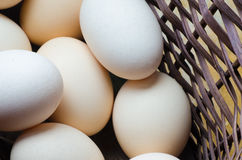Eggs in easter basket Royalty Free Stock Photography