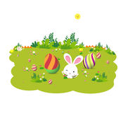 Eggs and Easter bunny Royalty Free Stock Images
