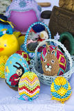 Eggs and Easter decorations Royalty Free Stock Photography