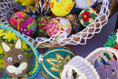 Eggs and Easter decorations Royalty Free Stock Images