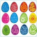 Eggs Easter design - vector set Stock Image