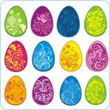 Eggs Easter design - vector set Stock Photo