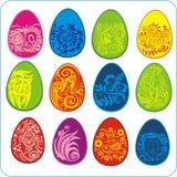 Eggs Easter design - vector set Stock Photos