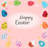 Eggs and Easter. Happy Easter with eggs, card Stock Image