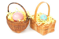 Eggs for Easter holiday. A couple egg basket is on Easter holiday Royalty Free Stock Photos