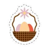 Eggs easter inside basket icon Stock Photos