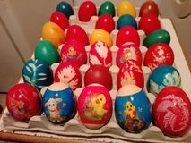 Eggs. Easter eggs much color and animals Stock Photo