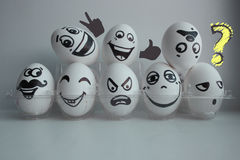 Eggs Easter white group in a transparent Royalty Free Stock Photo