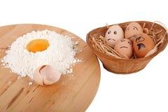 Eggs effrayé photo libre de droits