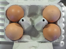 Eggs in egg box Stock Photo