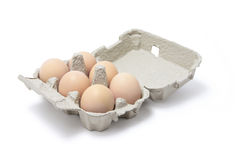 Eggs in Egg Carton Royalty Free Stock Photography