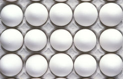 Eggs in egg carton, close up Stock Photography
