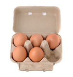 Eggs in an egg carton Stock Photo
