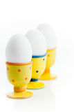 Eggs in egg-cups Stock Photography