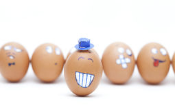 Eggs emoticons Stock Photography