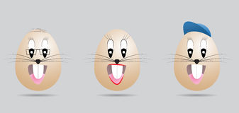 Eggs face Royalty Free Stock Images