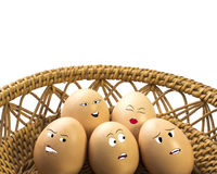 Eggs faces Stock Photo