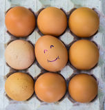 Eggs with faces Royalty Free Stock Images