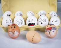 Eggs faces Stock Image