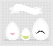 Eggs family. Vector illustration. This is file of EPS8 format Stock Images