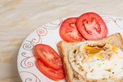 Eggs fired and sauce Royalty Free Stock Image