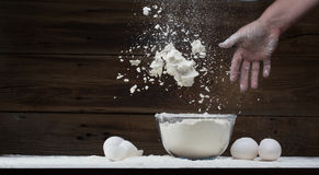 Eggs and flour Royalty Free Stock Photography